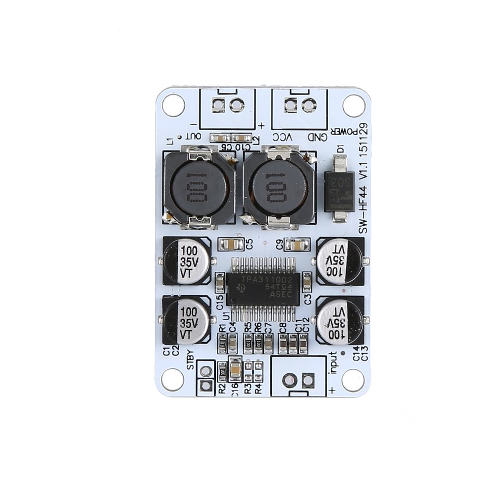 Ultra-Small Digital Power Amplifier Board Tpa3110 Pbtl Mono Digital Power Amplifier Board 30W Hf44