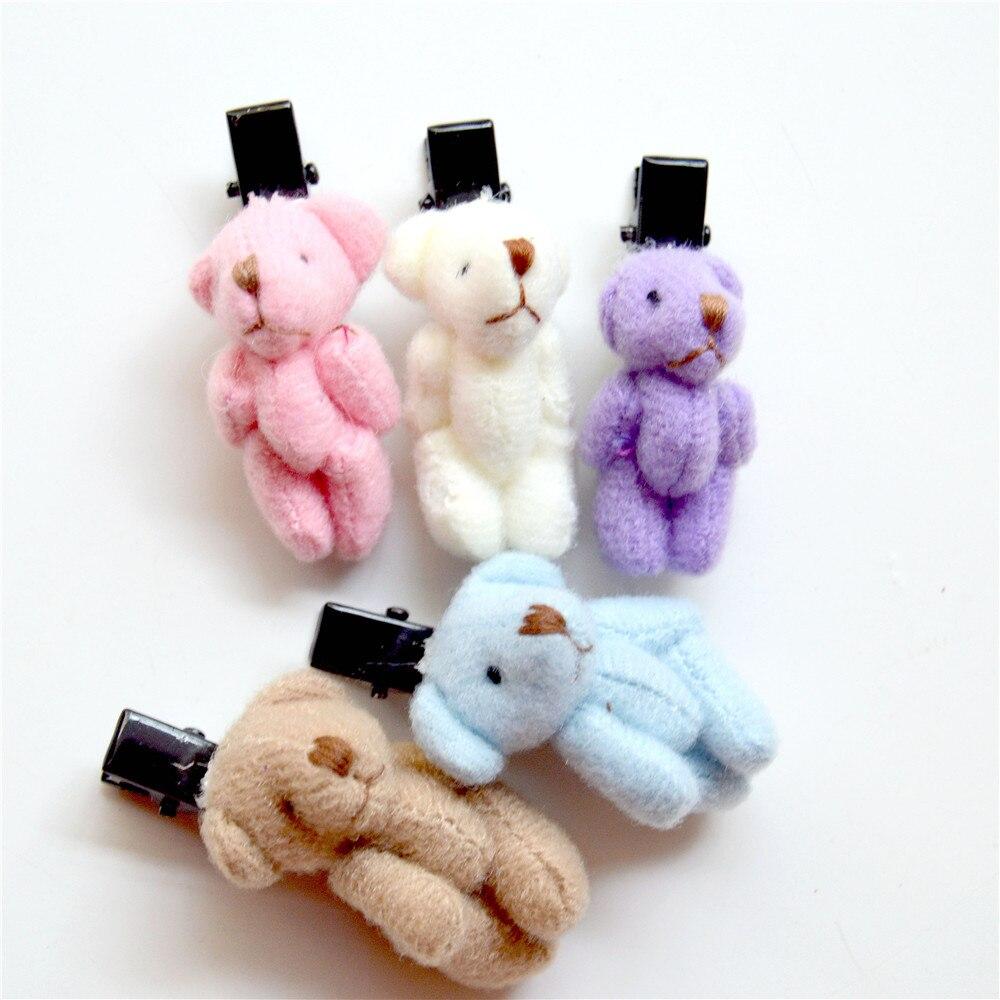 10pcs  Infant Baby Girls Soft Plush Ball Hair Clip Hairpin Lovely Barrettes pl~