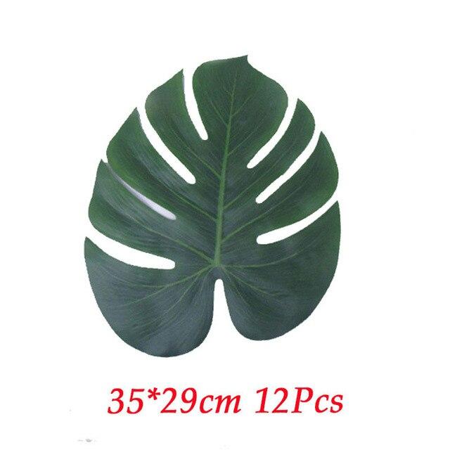 12pcs fabric leaves