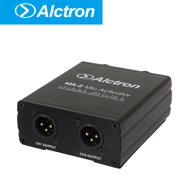 mic preamplifier alctron ma 2 dual channel dynamic passive aluminum band microphone amplifier in. Black Bedroom Furniture Sets. Home Design Ideas