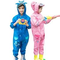 Boy Cartoon Cute Raincoat Suit Children Outdoor Waterproof Jumpsuit Rain Coat Backpack Rain Pants Kids Rain Gear Chuva 50yc110