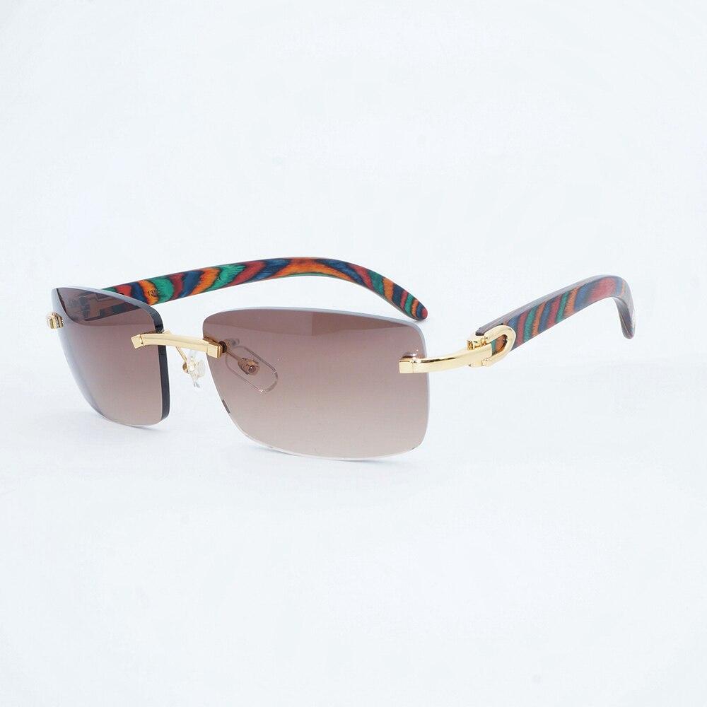 d5867341e Moldura de Madeira Óculos de Sol Sem Aro Óculos De Sol Dos Homens do vintage  Pavão Para O Clube e Condução De Luxo Sombra Gafas de sol Luneta 012