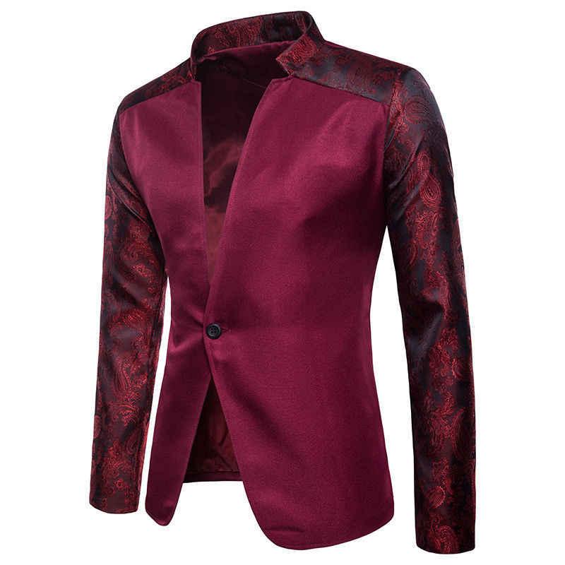 Nueva llegada de lujo hombres Blazer primavera moda marca de alta calidad  de algodón Slim Fit 904e1736605d