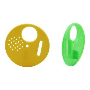 جولة خلية النحل الباب البلاستيك النحالة أقراص العسل تدفق إطار معدات تربية النحل النحل عش الباب 10 قطع