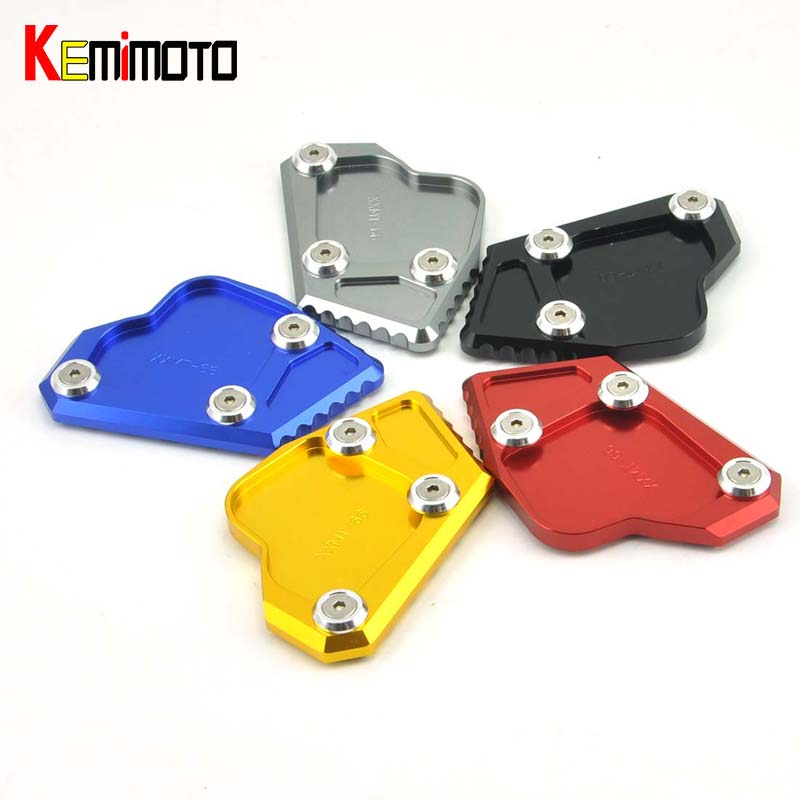 KEMiMOTO Side Stand Plate Pad Motorcycle Kickstand For BMW K1600GT/1600GTL 2011 2012 2013 2014 2015 for bmw f800r 2009 2012 2013 2014 hp2 08 motorcycle cnc aluminum side stand enlarger cnc kickstand pate pad side stand enlarger