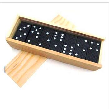 28 sztuk zestaw drewniane czarne Domino pudełko pudełko gry zabawki tradycyjne śmieszne gry uczenia się Puzzle edukacyjne zabawki dla dzieci dla dzieci prezenty tanie i dobre opinie Miuioee 8 ~ 13 Lat 14Y 2-4 lat 5-7 lat Dorośli Drewna Zawodów Sport Away from fire domino toys Toys for children Wood toys for kids