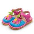 Девочка Летняя Обувь Розовые Ботинки Малыша Squeaky Сандалии 1-2-3Y