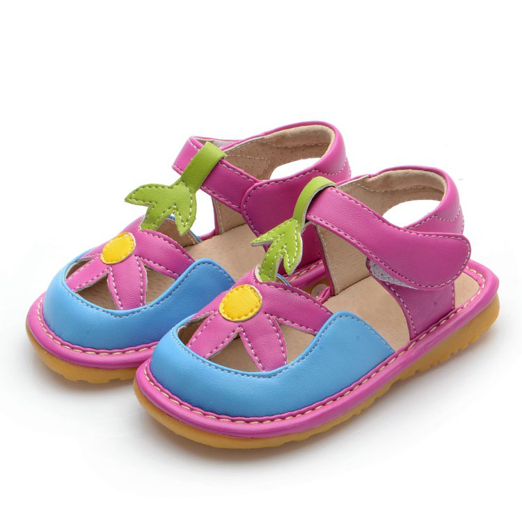 Baby Girl Summer Shoes Pink Toddler Shoes Squeaky Sandals ...