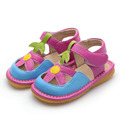 Baby Girl Summer Shoes Pink Toddler Shoes Squeaky Sandals 1-2-3Y