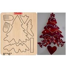 Troqueles de corte Adornos de árbol de Navidad, nuevas plantillas para troqueles de madera 2019 troquelados