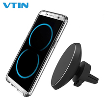 Magnetic QI Wireless Car Charger Mount Flexible Rotation Air Vent Magnet Charge Holder Stand for Samsung Galaxy