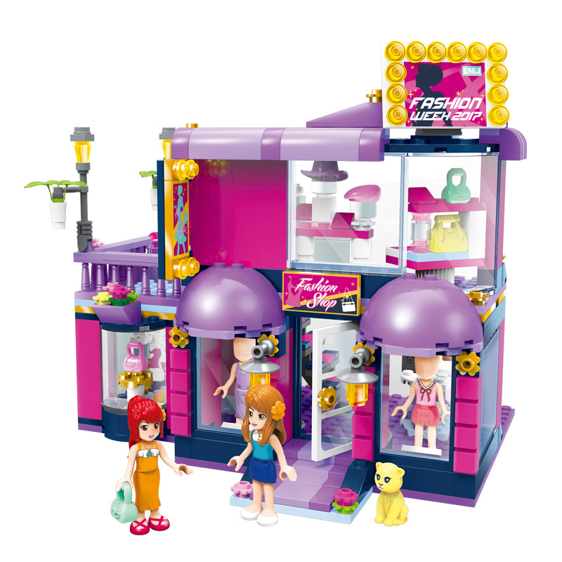 Permalink to Models building toy Enlighten 2005 Girls Friends Cherry Enlicity Boutique Shop 456pcs Building Blocks compatible with lego