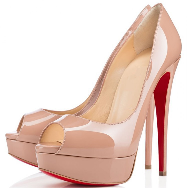 Free shipping Red bottom Women Nude pumps high heels shoes fashion