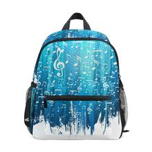 Mens backpack Music note Printed Student Backpack ALAZA Blue classic school bags for teenager boy girls children bag