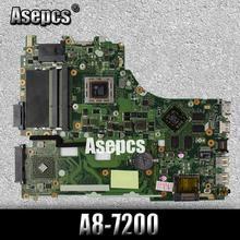 Akemy Per For Asus X550ZE K555Z A555Z X555Z X750/X550 scheda madre Del Computer Portatile A8-7200 CPU Scheda Madre con scheda grafica test di buona