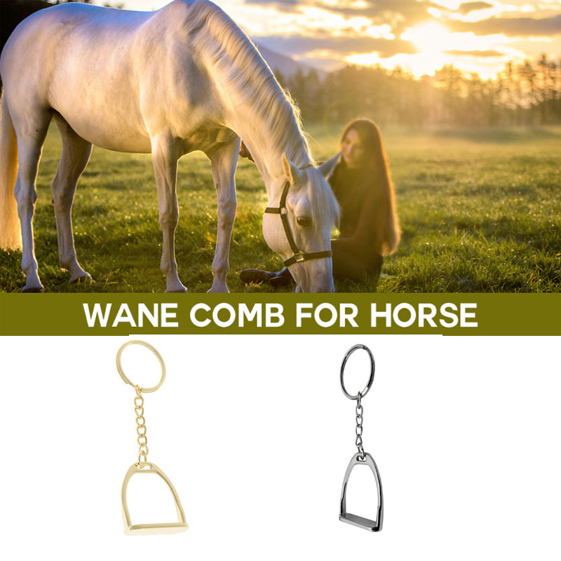 Horse Pony Stirrup Keyring Keychain Hanging Ornament For Business Hand Bag Equipment Outdoor Horse Riding Accessories