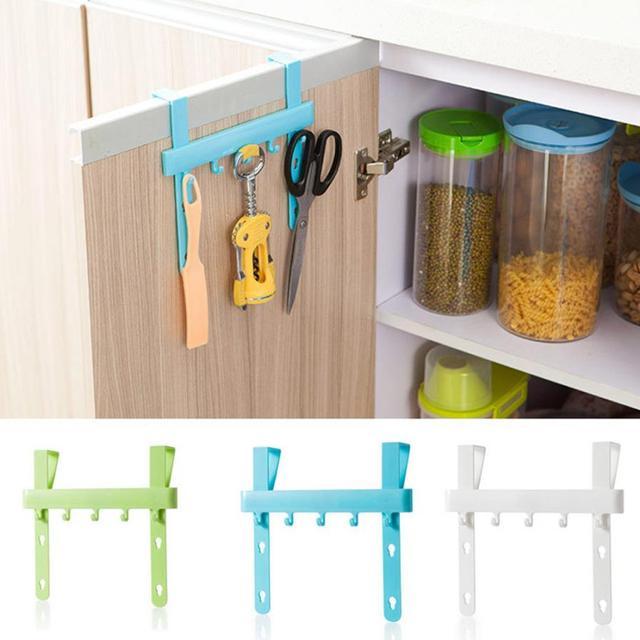 Creative Cabinet Door Rack Kitchen Practical Storange Hanging Hook Bathroom Vanity Peg Household Storage Tool