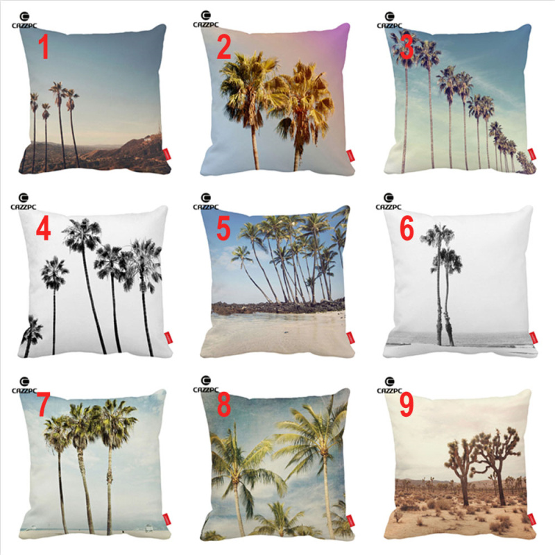 California Summer Boho Island Beach Palm Joshua Trees Print Car Decorative Pillowcase Cushion Cover Sofa Home Decor
