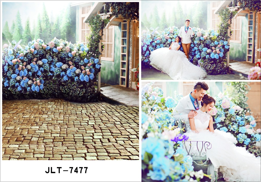A sea of flowers outdoor wedding pictures Photography Backdrops Printed Photographic Background for Photo Studio Fotography