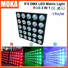 Matrix 5x5 DMX LED 25*30W Show Bar Light 8/20 DMX CH Strobe 1-20 Flashes/Second Projector for Wedding Party Dj Club(China)