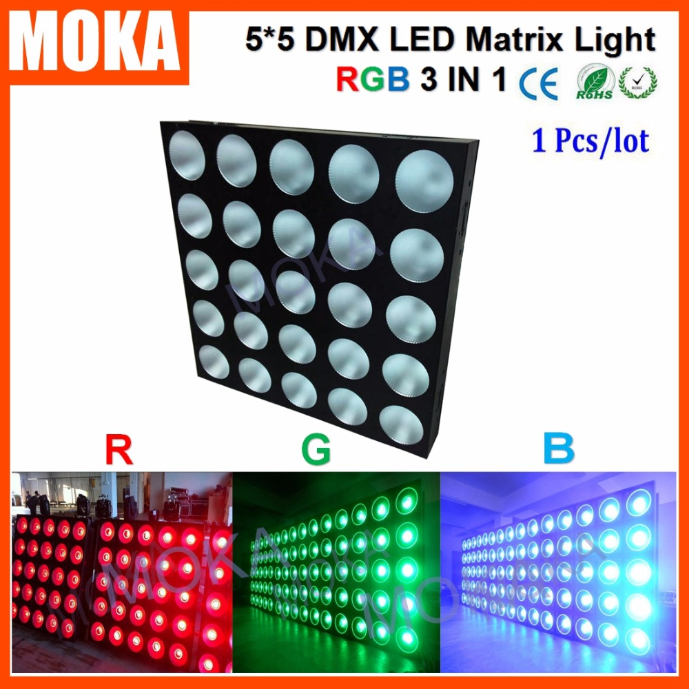 Matrix <font><b>5&#215;5</b></font> DMX <font><b>LED</b></font> 25*30W Show Bar Light 8/20 DMX CH Strobe 1-20 Flashes/Second Projector for Wedding Party Dj Club