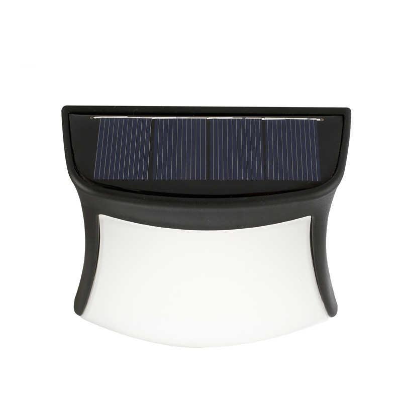 LumiParty Außen Solar Power Zaun Licht Wasserdichte Solar Wandleuchte Auto On/Off Gartenweg Lampe für Deck Treppen nacht lampe