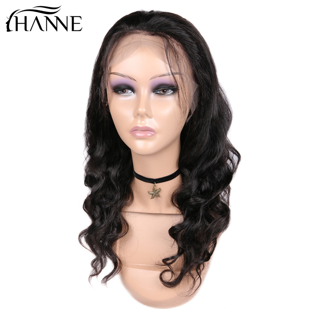 HANNE Hair Medium Length 130% Density Average Size Can be Permed 360 Lace Fronta Wigs Remy Human Brazilian Hair Swiss Lace Wig