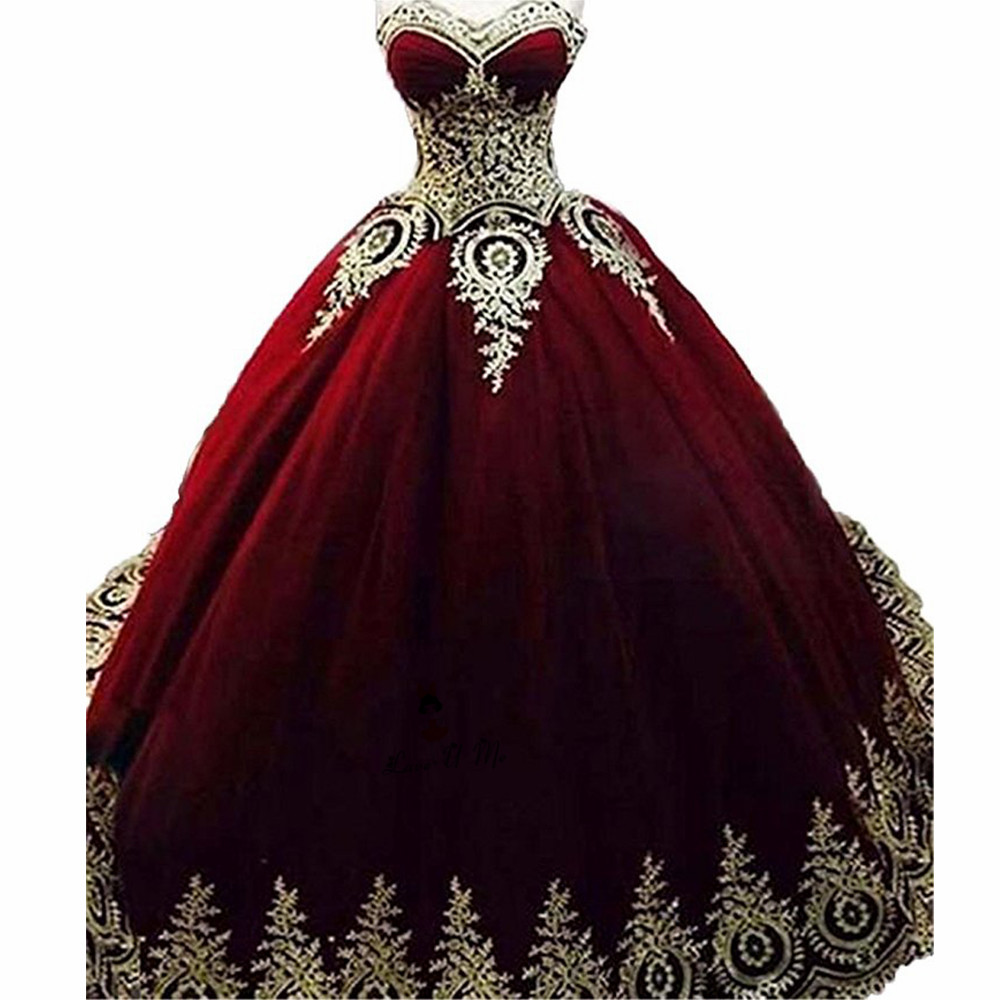 Royal Blue Burgundy Gold Lace Quinceanera Dresses Ball Gown 2018 Vestidos de 15 Anos Applique Puffy