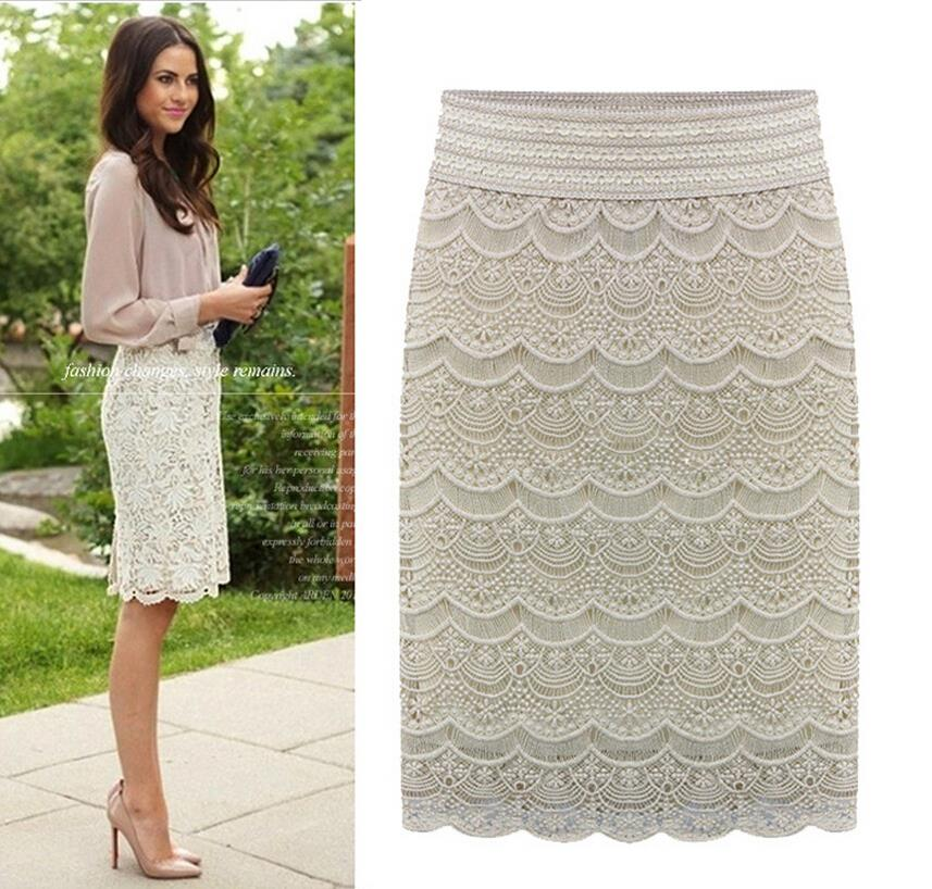 Aliexpress.com : Buy Women Bodycon Lace Pencil Skirt Knee Length ...