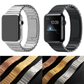 TOP Quality Link Bracelet For Apple Watch Band 38mm 42mm Black Silver Gold 316L Stainless Steel Watchbands For iWatch Strap