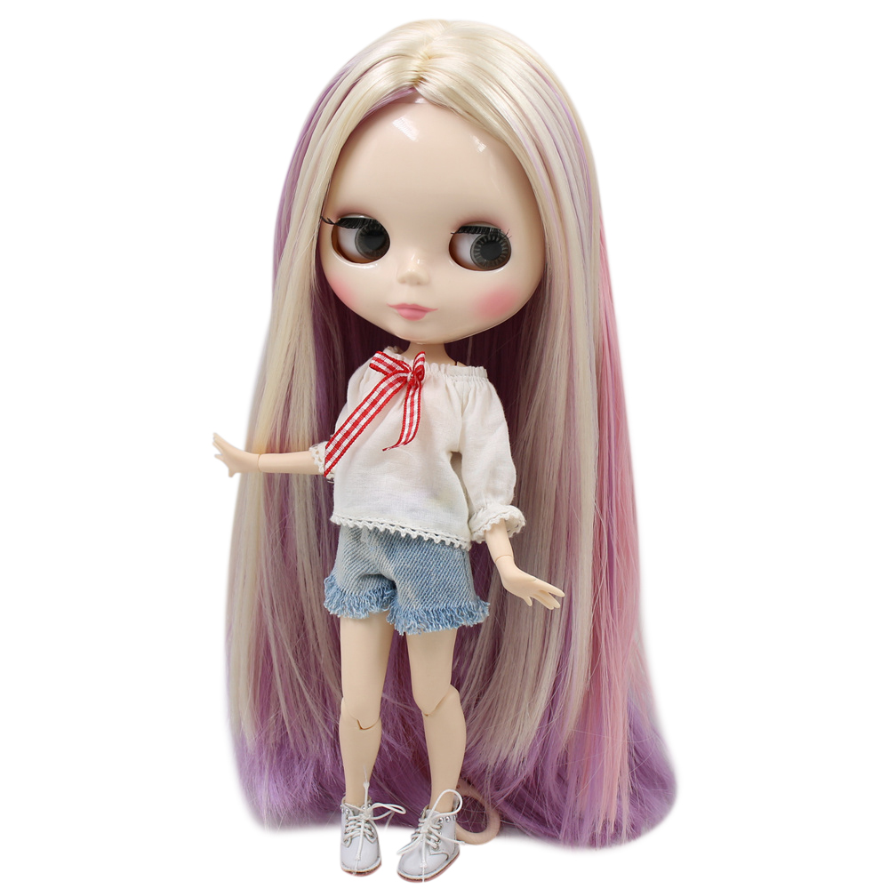 ICY Nude Factory Blyth Doll No BL6025 2137 6122 blonde mix purple and pink hair white