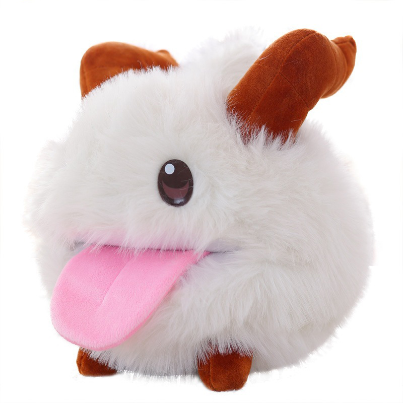 10/25/35cm Cute Game Theme Limited Poro Plush Stuffed Children Toy Kawaii Pillow Plush Doll White Mouse Cartoon Baby Toys TL0128
