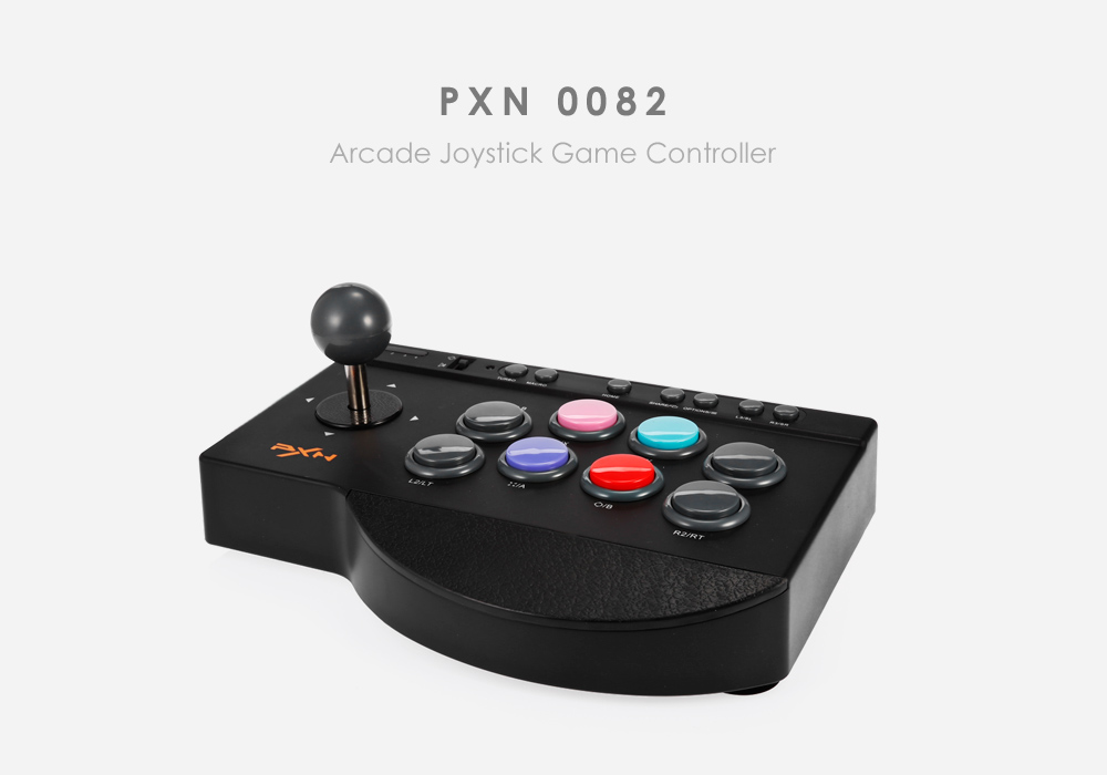 PXN 0082 contrôleur de jeu de manette d'arcade 180 CM Support de manette de jeu filaire TURBO MACRO pour PC PS3 PS4 Xbox one jeu