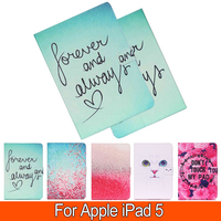 Fashion Painted With Stand Flip PU Leather For iPad Air Card Slot Cases For Apple iPad 5 iPad 5 iPad Air Smart Case Cover