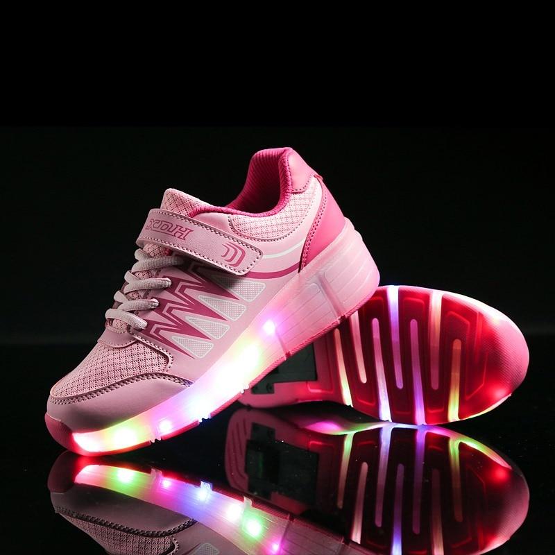 Sneakers Kids Chaussures légères LED Chaussures garçons Garçons avec chaussures automatiques de roues automatiques CcVGW8pa