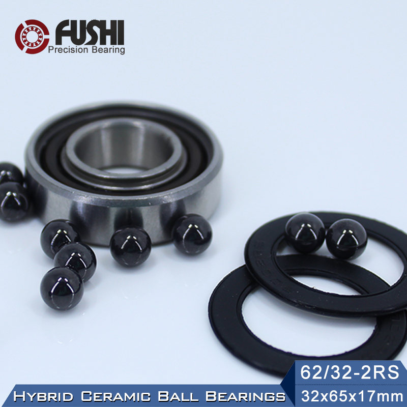 62/32 Hybrid Ceramic Bearing 32*65*17 mm ( 1PC ) Race Bike Front Rear Wheel 62 32 2RS LUU Hybrids Si3N4 Ball Bearings 62/32RS 15267 2rs 15 26 7mm 15267rs si3n4 hybrid ceramic wheel hub bearing