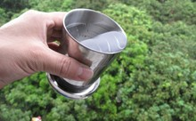 Stainless Steel Folding Cup Travel Tool Kit Survival EDC Gear Outdoor Sports Mug Portable for Camping Hiking Lighter