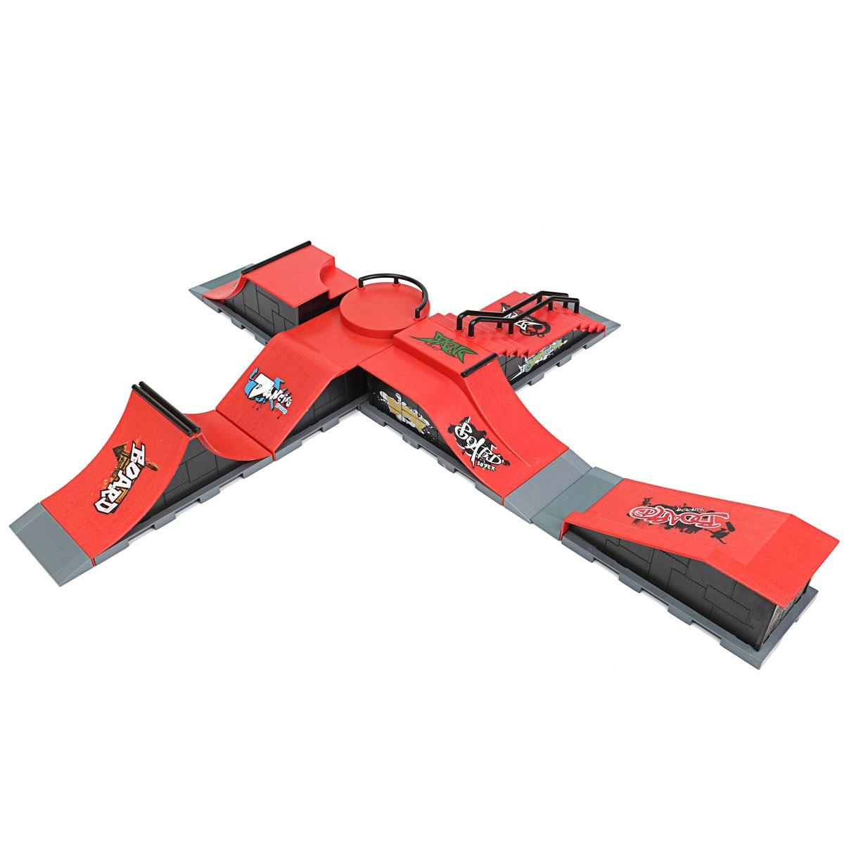 DIY 1 stück A-F Website Skate Park Rampe Teile Für Griffbrett Finger Board Ultimative Parks Jungen Spiele Erwachsene Neuheit Einzelteile kinder Spielzeug