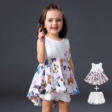 f250605c8 2017 diseñadores de la marca Bebé Ropa Sets infantil Trajes Niñas precioso  vestido + algodón blanco