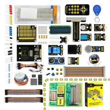 keyestudio New Ultimate Starter Kit Learning Kit for Raspberry Pi 4B/ Model 3B/B+ w/Tutorial, ADXL345, Ultrasonic,lcd 1602 raspberry pi 3 starter kit ultimate leaning suite hc sr501 motion sensor 1602 lcd sg90 servo led relay resistors