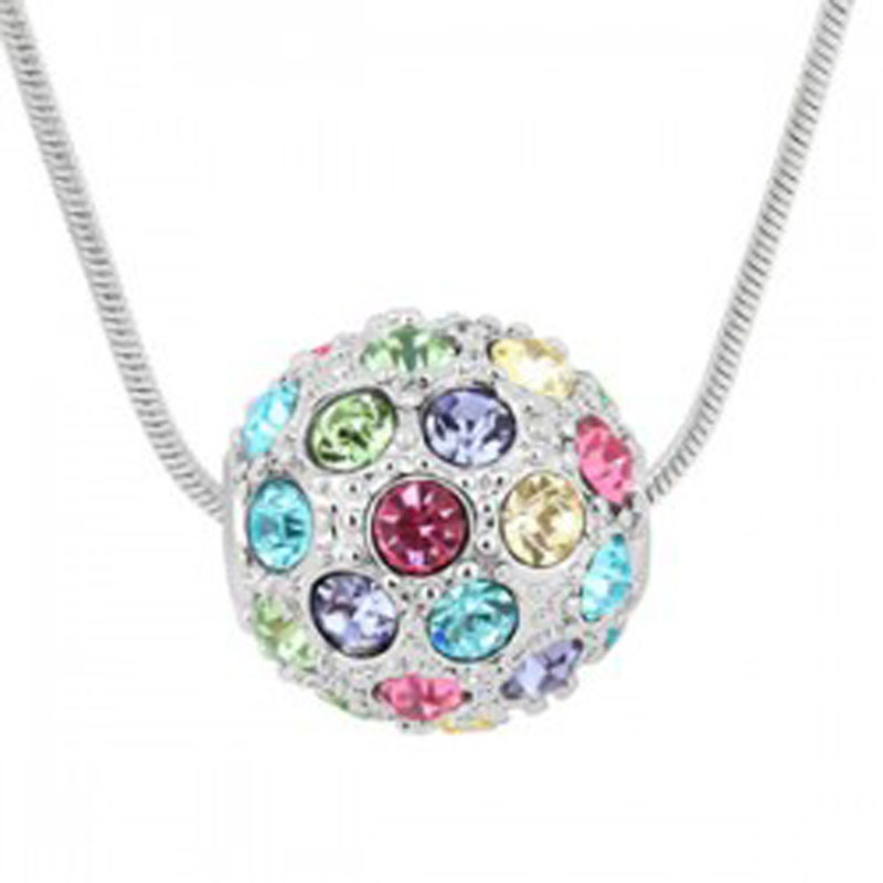 No Minimum Order Crystal beads jewelry wholesale lucky guardian of love crystal ball necklace pendant - colorful balls -119