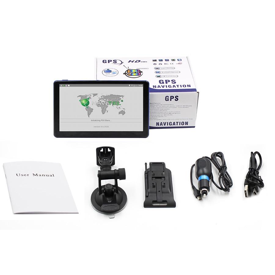 TOPSOURCE 7 pouces voiture GPS Navigation écran capacitif FM construit en 8 GB carte pour Europe/états-unis + Canada camion véhicule gps navigateur C6 - 6