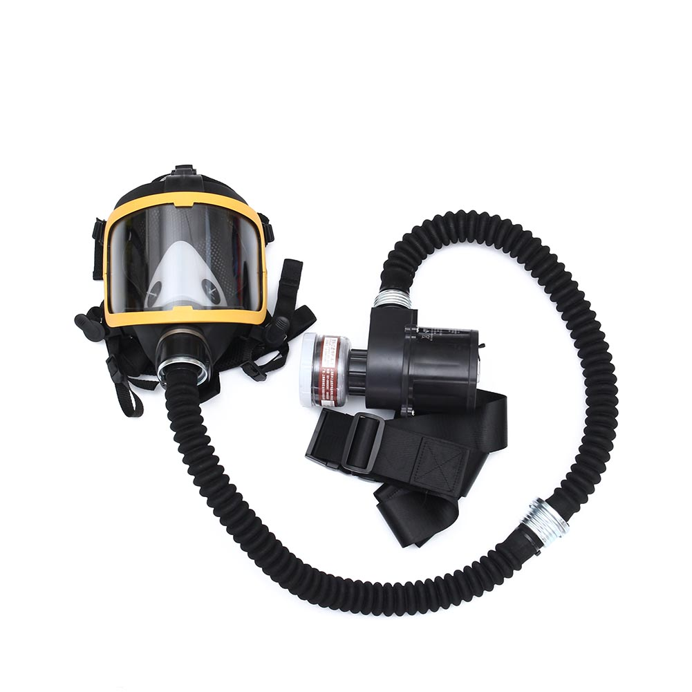 Electric Supplied Air Fed Full Face Gas Mask Constant Flow Respirator System Device QJY99