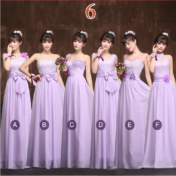 Light Purple Long Bridesmaid Dresses Lavender Convertible Wrap Party Dress For Wedding Guest Lace Up Back Free Shipping B1750 In From