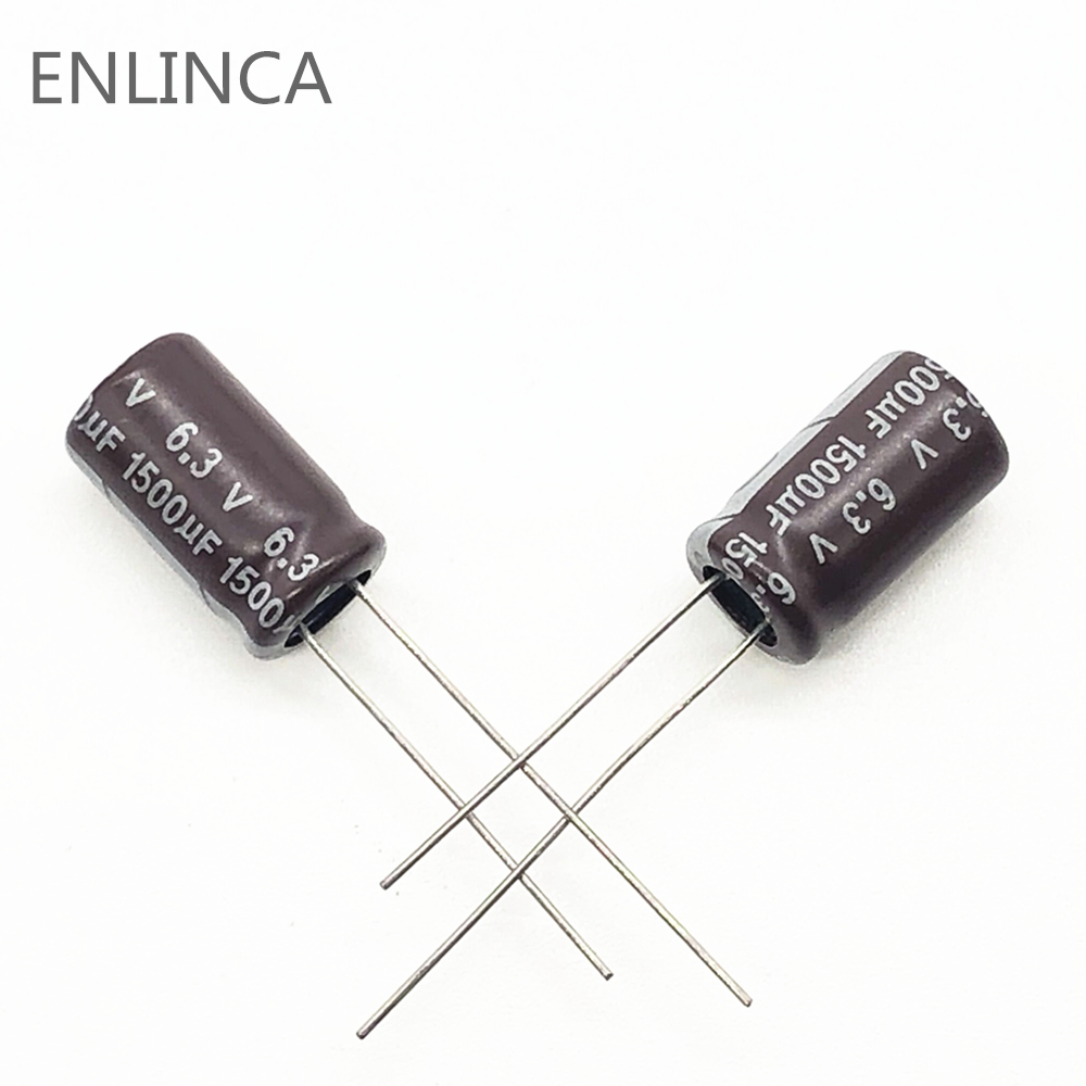 20pcs/lot 6.3V 1500UF 8*20 Low ESR / Impedance High Frequency Aluminum Electrolytic Capacitor 1500UF6.3V 8*20 20%