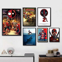 Marvel Superhero Deadpool 2 White Poster Wall Art Painting For Bedroom Home decoracion Home Art Brand(China)