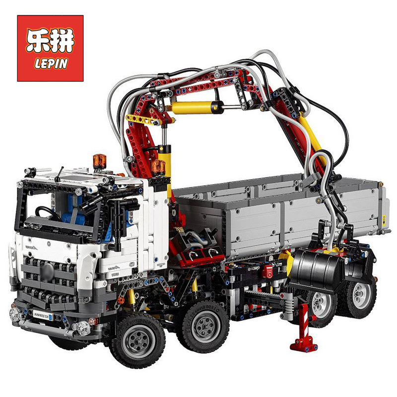 LEPIN 20005 Technic series 2793pcs Arocs truck Model Building blocks Bricks Classic LegoINGlys 42043 toys for Boys Children Gift lepin technic series building bricks 20005 2793pcs arocs truck model building kits blocks compatible 42043 boys toys gift