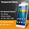 Vidrio templado 2.5d protector de pantalla de alta definición para huawei ascend y530 p8 G7 G9 G730 Para Honor 5C V8 5X Protector de Pantalla de Cristal