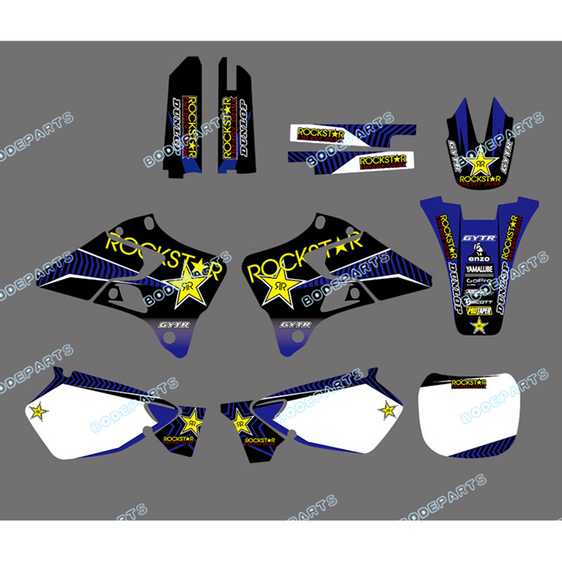 <font><b>YZ</b></font> <font><b>125</b></font> <font><b>YZ</b></font> 250 Decal Graphics Customized Motorcycle Sticker Design for YAMAHA YZ125 YZ250 1996 1997 1998 <font><b>1999</b></font> 2000 2001 image