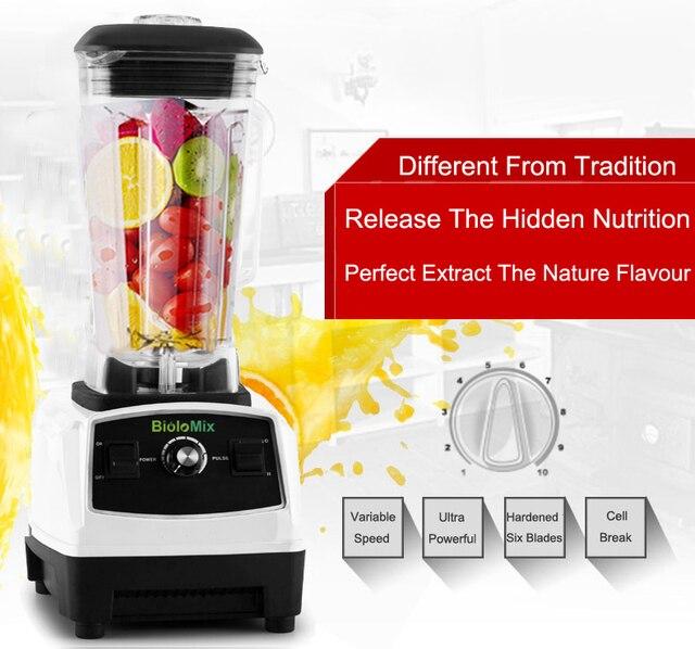 BPA Free 3HP 2200W Heavy Duty Commercial Grade Blender Mixer Juicer High Power Food Processor Ice Smoothie Bar Fruit Blender 4